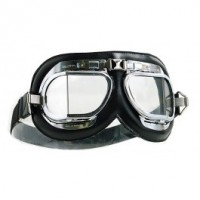 Halcyon Motorcycle Goggles Mk 4 Chrome Black
