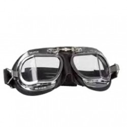 Halcyon Motorcycle Goggles Mk 9 Deluxe Chrome/Black
