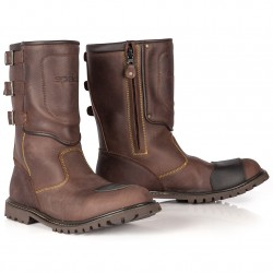 Spada Mens Foundry Boots Distressed Brown
