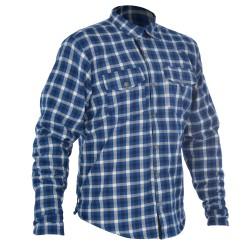 Oxford Kickback Kevlar Reinforced Shirt - Blue & White