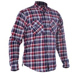 Oxford Kickback Kevlar Reinforced Shirt - Red & Blue