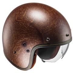 HJC FG-70s Vintage Flat Brown Open Face Helmet