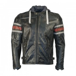 Richa Toulon 2 Mens Leather Jacket - Red Stripes