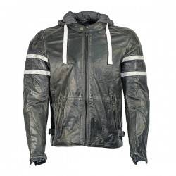 Richa Toulon 2 Mens Leather Jacket - Black Stripes