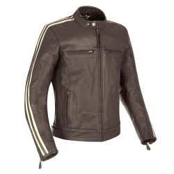 Oxford Bladon Mens Leather Jacket - Brown