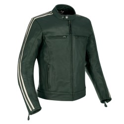 Oxford Bladon Mens Leather Jacket - Racing Green