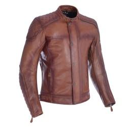 Oxford Hampton Mens Leather Jacket - Bourbon