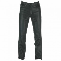 Spada Western Mens Leather Trousers Black