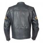 Spada Wyatt Mens Leather Jacket Slate Blue