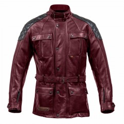 Spada Berliner Mens Leather Jacket Oxblood