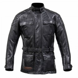 Spada Berliner Mens Leather Jacket Black