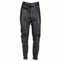Spada Road Mens Leather Trousers Black