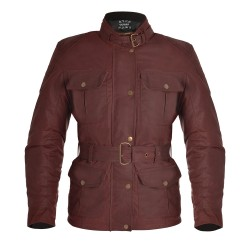 Oxford Bradwell Ladies Wax Jacket - Oxblood Red