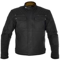 Oxford Hardy Mens Short Wax Jacket - Black