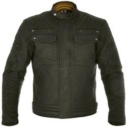 Oxford Hardy Mens Short Wax Jacket - Olive