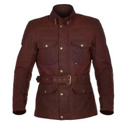 Oxford Bradwell Mens Wax Jacket - Oxblood Red